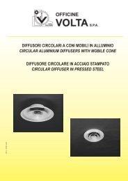 diffusori circolari a coni mobili in alluminio ... - Officine Volta SpA