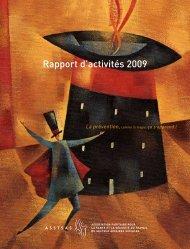 Rapport d'activités 2009 - Asstsas