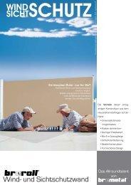 Breroll Wind und Sichtschutzwand - CHM-Markisen