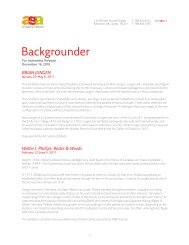 Backgrounder - Art Gallery of Alberta