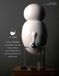 Discover ovopur an ecodesign water filter that provides ... - aquaovo