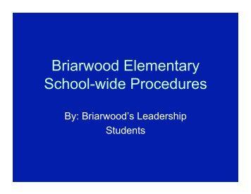 School-Wide Procedures - Warren County Schools