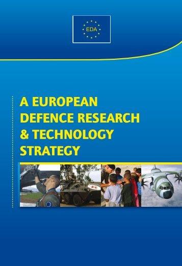 (EDRT) Strategy - European Defence Agency - Europa