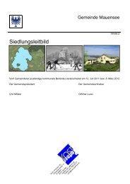 Siedlungsleitbild (Text) - Gemeinde Mauensee