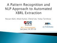 A Pattern Recognition Approach to Automated XBRL Extraction