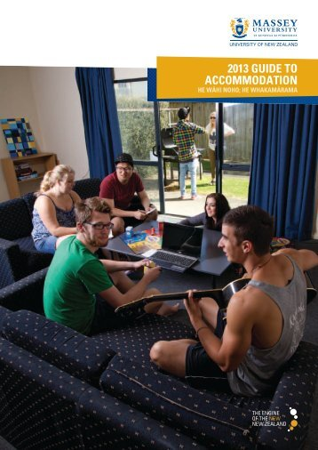 2013 Guide to Accommodation - Massey University