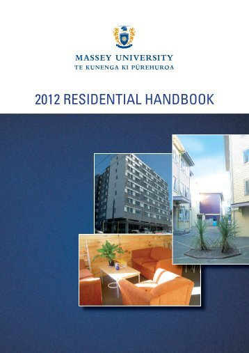 2012 Residential Handbook - Massey University
