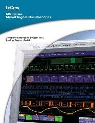LeCroy MS Series Mixed Signal Oscilloscope ... - Teledyne LeCroy