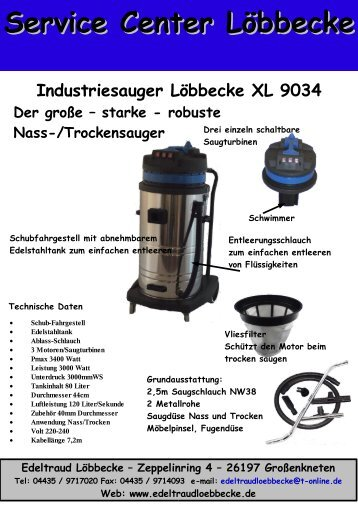 XL9034.pdf Produktinfo - Service-Center-Löbbecke - T-Online