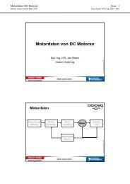 Motordaten von DC Motoren - Maxon Motor