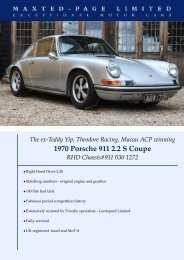 Porsche 911 2.2 S Coupe - Teddy Yei - Maxted-Page