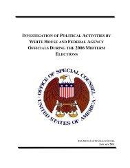 lengthy report - Judicial Watch