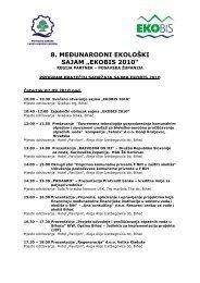 EKOBIS 2010 - Federalno ministarstvo okoliša i turizma