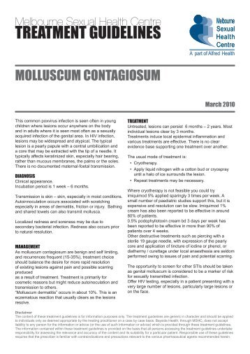 TREATMENT GUIDELINES - Melbourne Sexual Health Centre