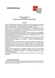 Gemeinsame Erklärung hinsichtlich CHANCENGLEICHHEIT UND ...