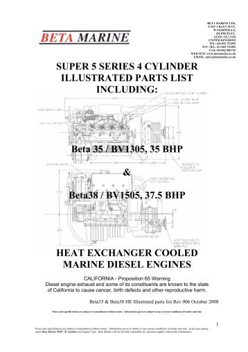 SUPER 5 SERIES 4 CYLINDER ILLUSTRATED PARTS LIST ...