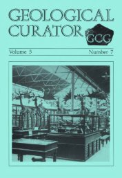 Number 7 - Geological Curators Group