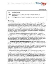 Winning on National Security - Greenberg Quinlan Rosner