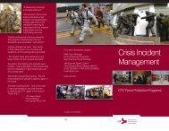 Crisis Incident Management - Concurrent Technologies Corporation