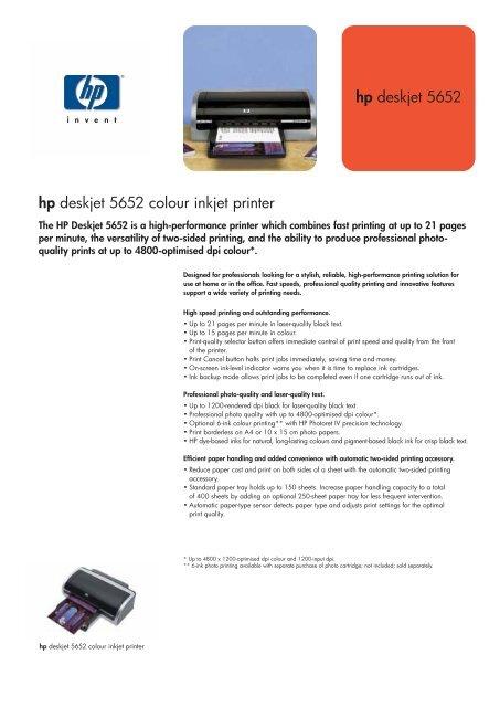 HP PRINTER DESKJET 5652 DRIVER FOR MAC