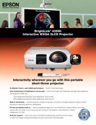 Interactivity wherever you go with this portable short-throw ... - Epson