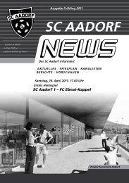 SCA-News Frühjahr 2011 - SC Aadorf
