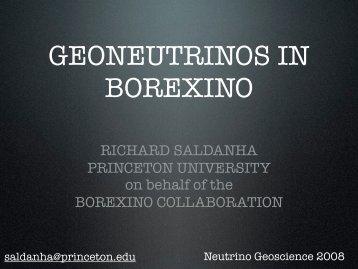 Borexino - Neutrino Geoscience 2008
