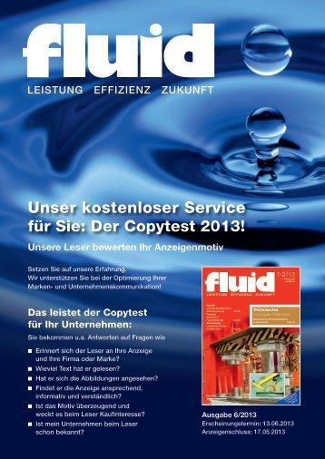 Unser kostenloser Service für Sie: Der Copytest 2013! - fluid