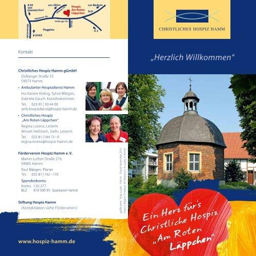 """Info-Broschüre """"Herzlich willkommen"""" - Hospiz Hamm"""