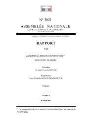 Le rapport - Assemblée nationale