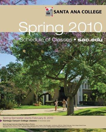 Spring 2010 - Santa Ana College