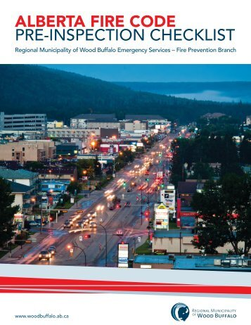 Alberta Fire Code: Pre-Inspection Checklist - Regional Municipality ...