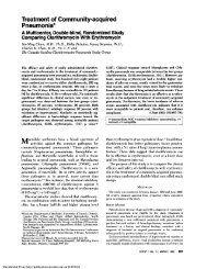 Treatment of Community-acquired Pneumonia*