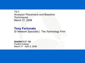 Tony Fortunato - Sharkfest - Wireshark