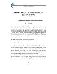 THEMATIC ARTICLES – NATIONAL IDENTITY AND EUROPEAN ...
