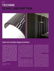tECHniK SCHALLAbSoRption - Plattform Zukunft Bau