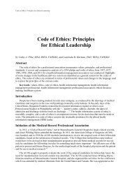 Code of Ethics - Perspectives - American Health Information ...