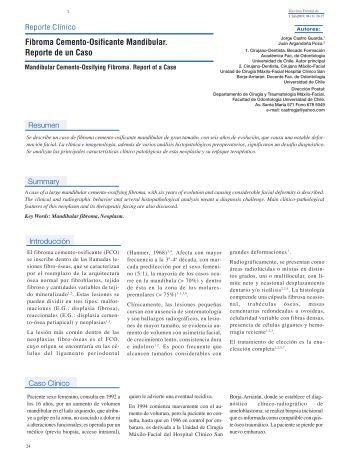 Fibroma Cemento-Osificante Mandibular. Reporte de un Caso