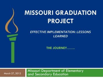 Missouri Graduation Project - National Dropout Prevention Center ...