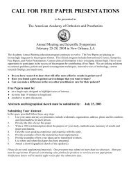 to view the Registration Form - American Academy of Orthotists ...