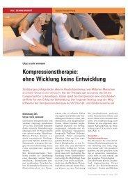 Kompressionstherapie: ohne Wicklung keine Entwicklung