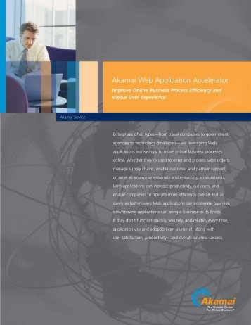 Akamai Web Application Accelerator - Network World