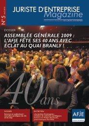Assemblée GénérAle 2009 : l'AFJe Fête ses 40 Ans Avec éclAt Au ...