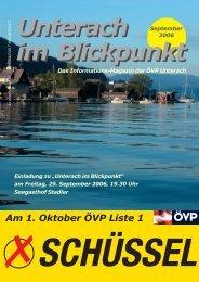 Ausgabe September 2006 - (ÖVP) Unterach am Attersee