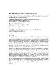 DICOM Lösung für private radiologische Praxen
