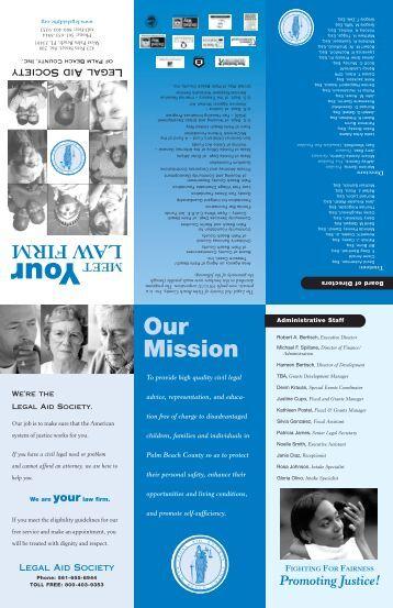 Meet Law brochure 2 - Legal Aid Society