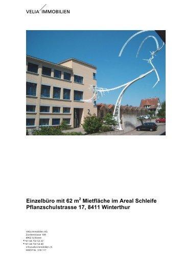 Einzelbüro mit 62 m Mietfläche im Areal Schleife ... - Homegate.ch