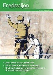 • Arms Trade Treaty vedtatt i FN • På freds(skatt ... - Norges Fredslag