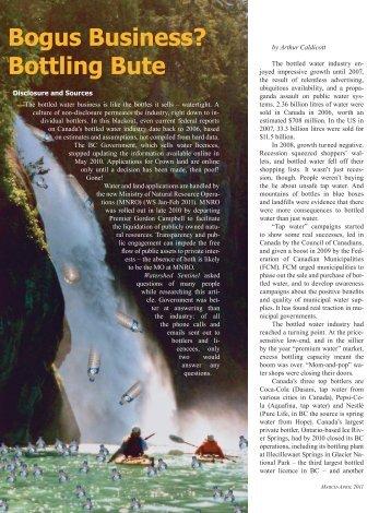 Bogus Business? Bottling Bute - Sierra Club BC