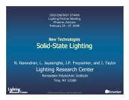 S lid St t Li hti Solid-State Lighting State Lighting - Energy Star